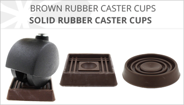 BROWN RUBBER FURNITURE CASTER CUP